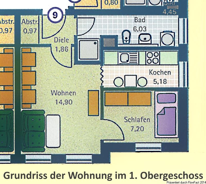 Grundriss der Wohnung Nr 9