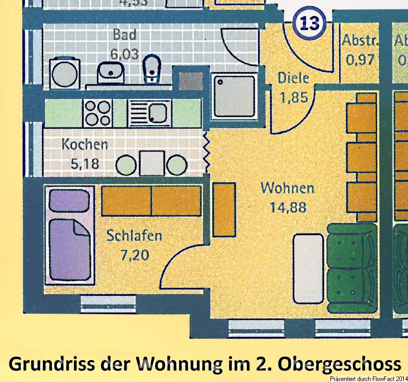 Grundriss der Wohnung Nr 13