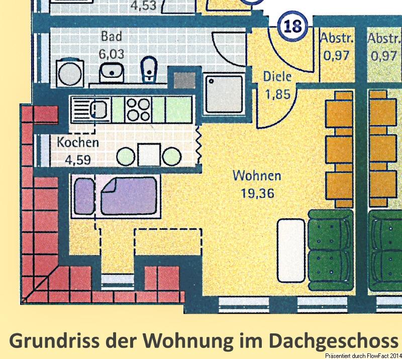 Grundriss der Wohnung Nr 18