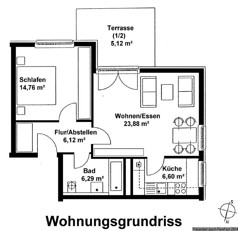 Grundriss Wohnung 42
