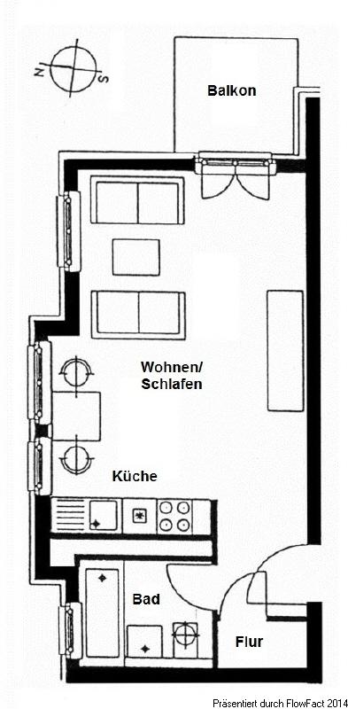 Grundriss Wohnung 44 und 48