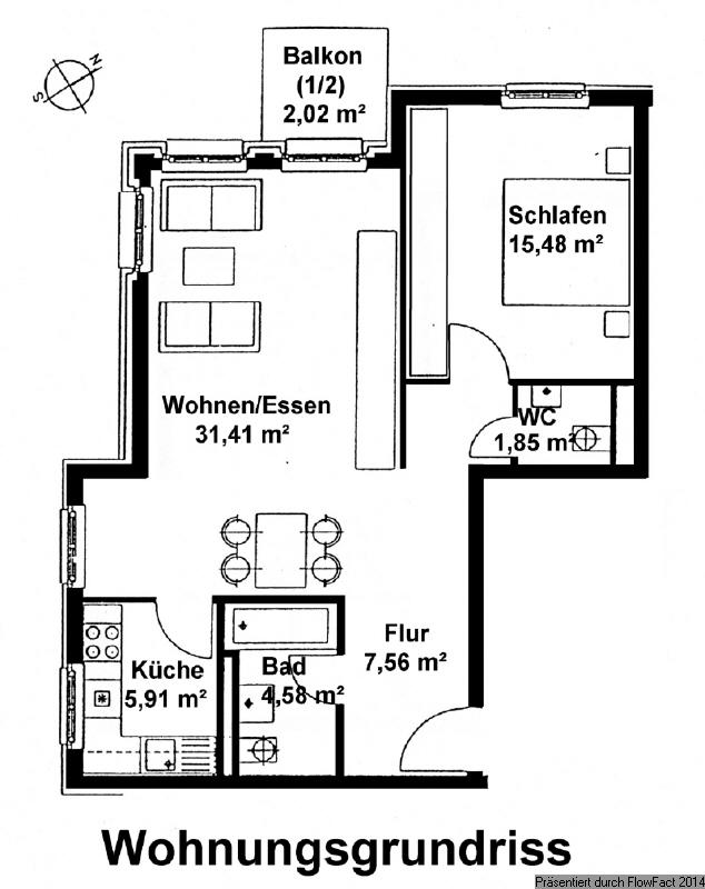 Grundriss Wohnung 30