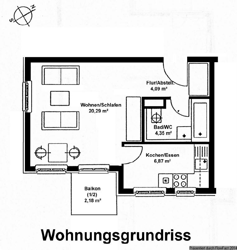 Grundriss Wohnung 29